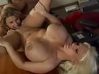 Big boobed girls play with each other