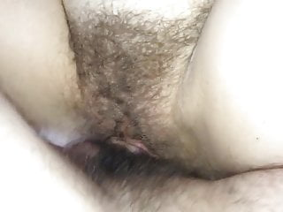 Slut wife Claire fucked by friend in her hairy pussy