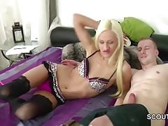 Skinny German Teen Get Anal Fuck and Facial by Stranger