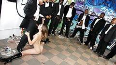 Amber Rayne Rough Interracial Gangbang
