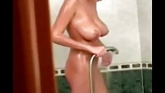 Sexy Blonde in Bathroom