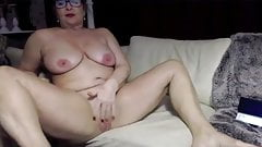 Granny with glasses amazing feet show