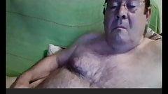 horny spanish grandpa wanking webcam