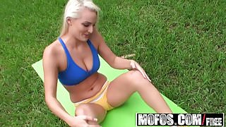 Mofos - Pervs On Patrol - From the yoga mat to my cock starr