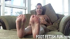 I want to show off my feet for you