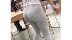 Candid ass leggings