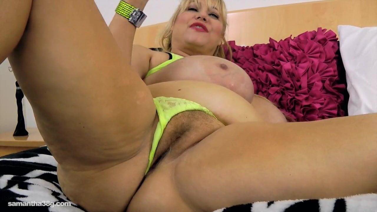 Old Busty Bbw Slut Samantha 38G Drills Pussy With Sex Ru-8435