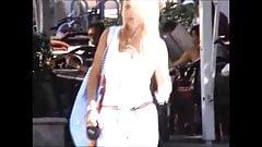 Candid Boobs: Slim Busty White Women (White Tops) 8
