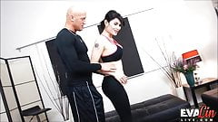 Eva Lin gets her ass drilled by her trainer