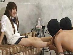 Japanese Femdom Emiru Foot Worship