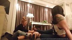 Bastienne Cross Ballbusting in Converse with Jayne Doe PREV