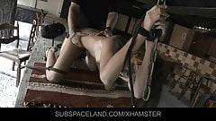 Hard spanked outside and ass fucked