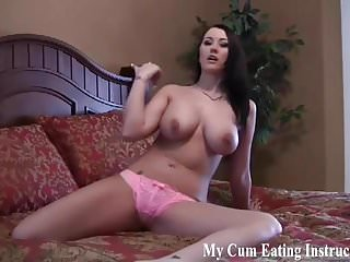 You have to eat your own cum while I watch CEI