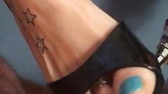 Sexy Blue toenails in Black highheels's Thumb