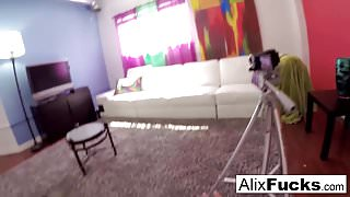 Hooker Alix gets fucked and filmed by a kinky client