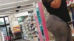 Walgreens Creep Shots MEGA ass ebony booty revisted part 1