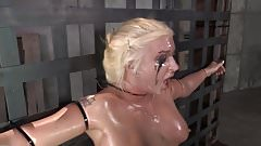 Spit covered face from BDSM fa