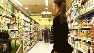 Supermarket flash girl
