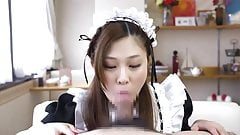 Japanese Maid Suck & CIM pt. 2