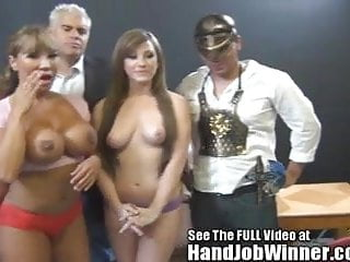 Huge fake titty Ava Devine makes a fan give her a cumshot fr