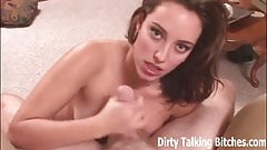 Dirty talking amateur giving a POV blowjob