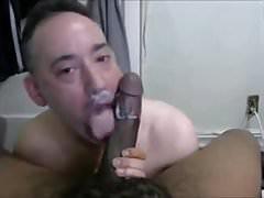 Gay Swallowing black cum
