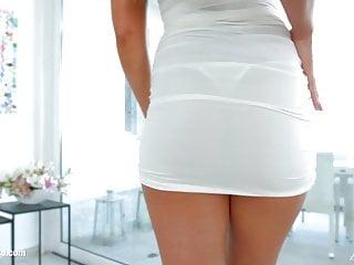 Anal Vestido Blanco Transparente, a desgarrar la pija en paja