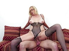 Mature mama comes home to fuck young boy