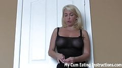 Eat your cum for spying on your neighbor