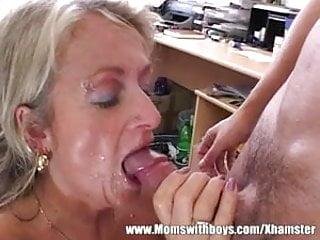 Mature Blonde Executive Fucks Her Buff Applicant