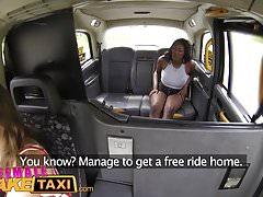 Female Fake Taxi Busty ebony stripper wants pussy licked