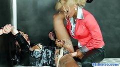 Jenna Lovely and El Storm in bukkake affair