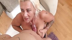 Granny assfucked by her stepson's Thumb