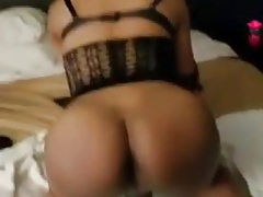 Young Sexy TS takes a big cock bare for the first time part1