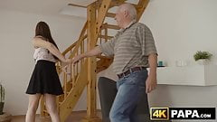 Redhead babe cheats on boyfriend with his big dick father