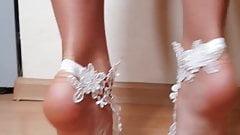 Beautiful legs and feet on tiptoes