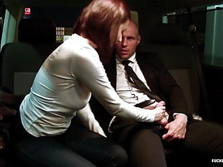 Fucked in Traffic - Hard lusty car fuck with hot Czech babe
