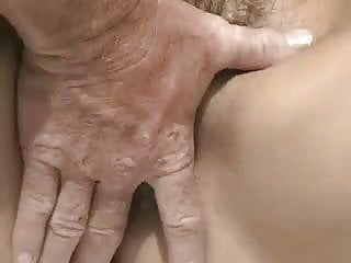 Woman with very hairy cunt fucked in the garden