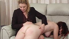 Lazy teen gets a spanking by her mother