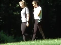 Spying on german black leggins teens (summer 2017) 01