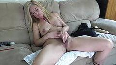 Hot 60 years old stepmom caught masturbating