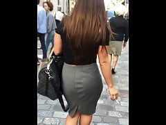 Interestingmoments of Business Womans Ass