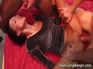 Preview 4 of horny german gangbang party chicks