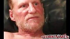 Hairy amateur makes his uncut cock spill warm jizz