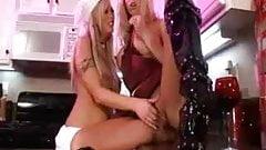 Lesbians in the kitchen with Brittney Skye & Katie Morgan