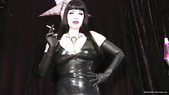 Femdom evil smoke trance with Maya Sinstress