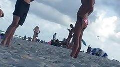 Miami Beach blonde hot