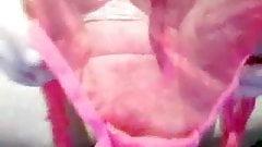Pink panties in my wet pussy
