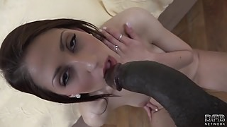 Czech amateur girl first time casting for interracial porn