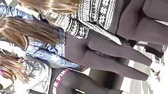 Candid Teens In Leggings